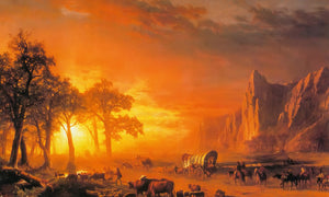 Emigrants By Crossing By The By Plains By Albert By Bierstadt