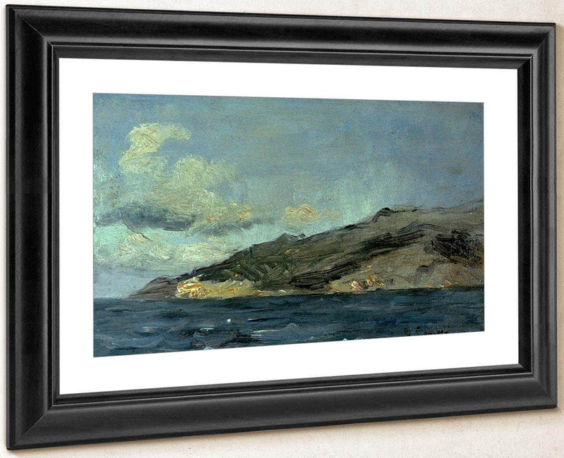 Entrance To Straits Of Gibraltar By Gusave Courbet