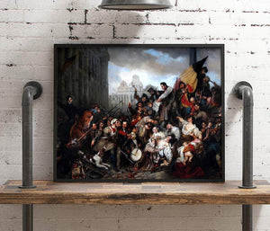 Episode Of The Belgian Revolution Painting Gustaf Wappers Canvas Art