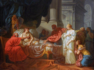 Erasistratus Discovers The Cause Of Antiochuss Disease 1774 Ecole Des Beaux Arts Paris By Jacques Louis David