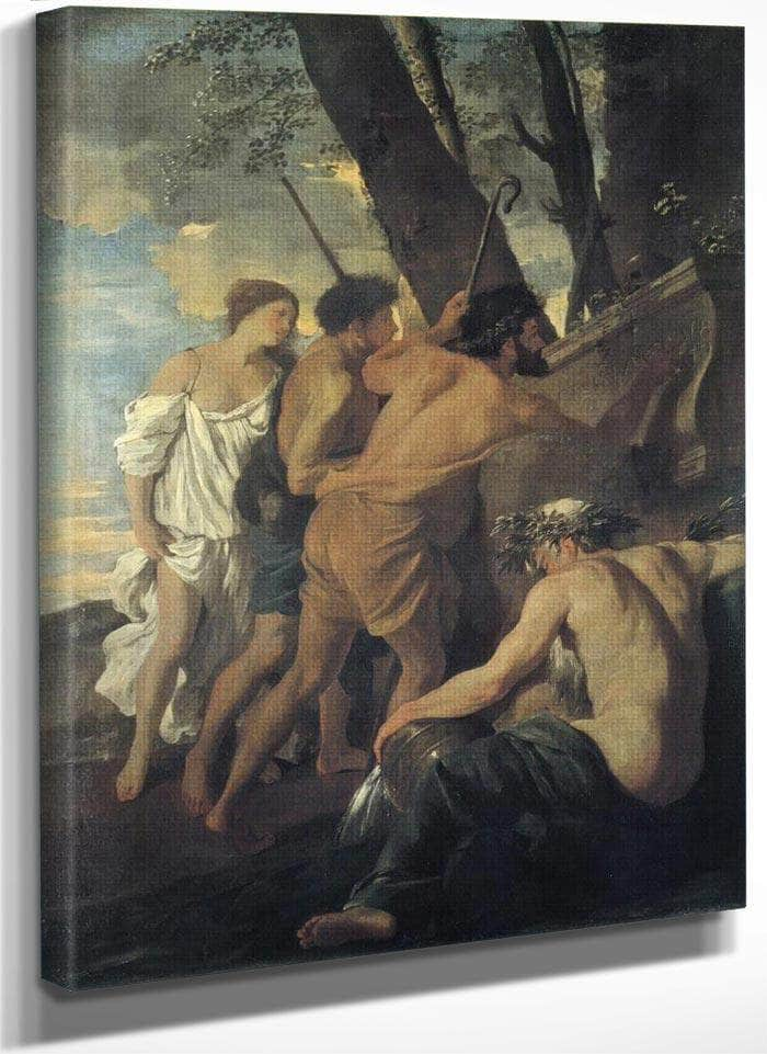 Et In Arcadio Ego (Arcadian Sheperds) I By Nicholas Poussin