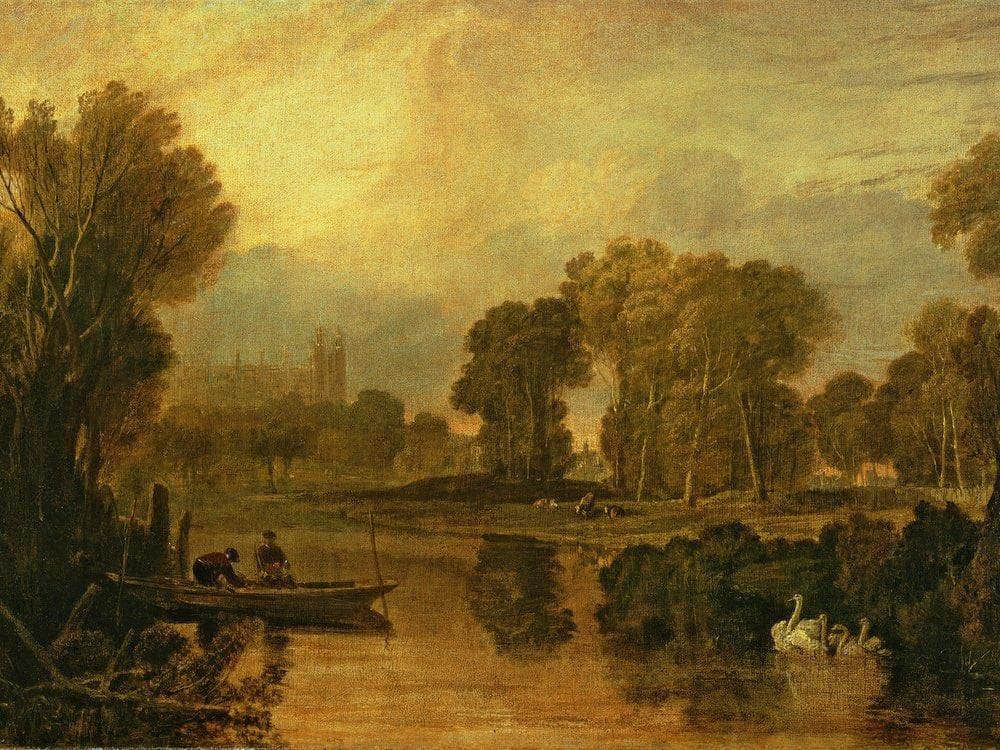 Eton College From The River Or The Thames At Eton By Joseph Mallord William Turner