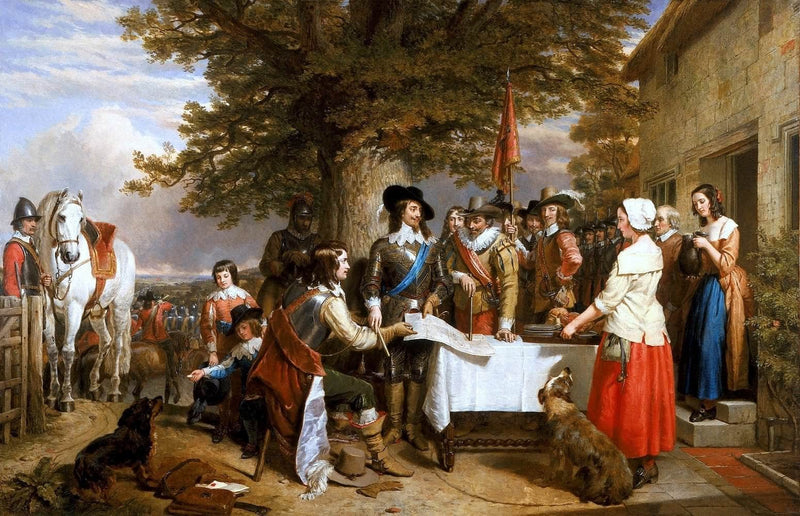 Eve Of The Battle Of Edge Hill, 1642 Painting Charles Landseer Canvas Art