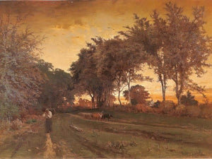 Evening Landscape By George Inness