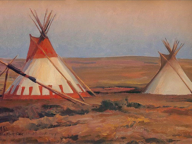 Evening On The Blackfeet Reservation By Maynard Dixon
