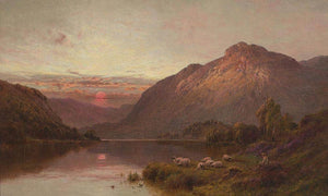 Evening Repose In The Highlands By Alfred De Breanski