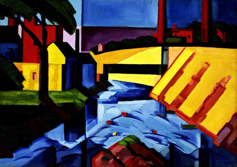 Evening Tones Painting Oscar Bluemner Canvas Art
