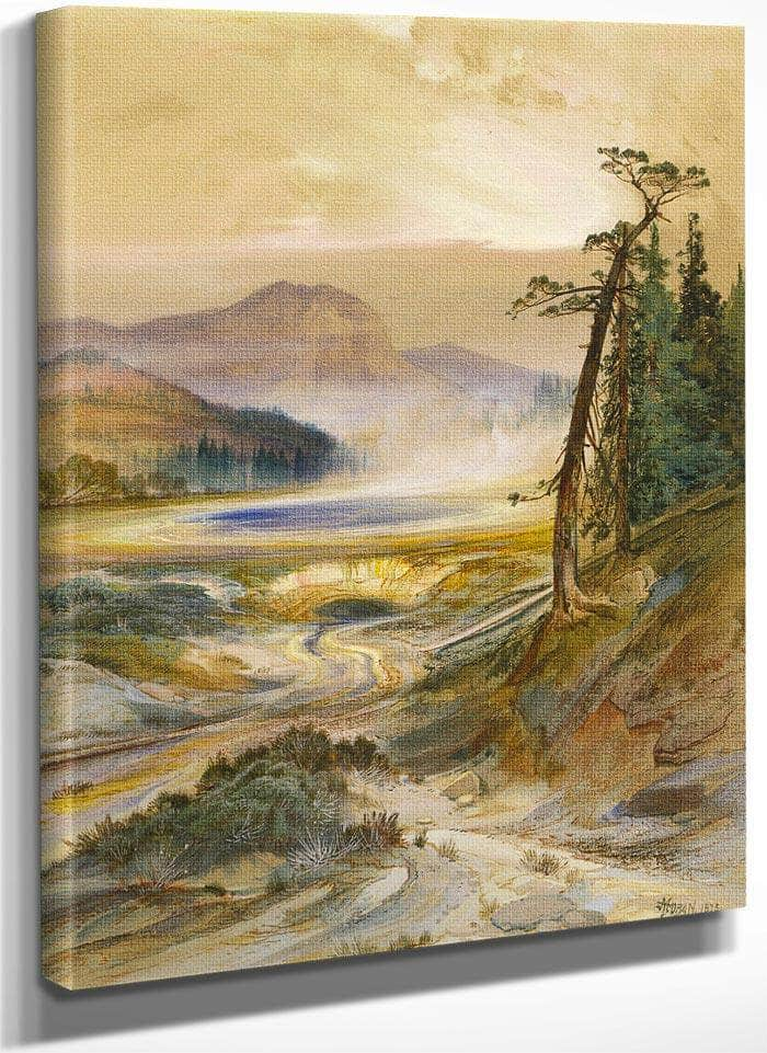 Excelsior Geyser, Yellowstone Park By Thomas Moran