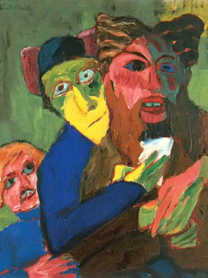 Excited People By Emil Nolde