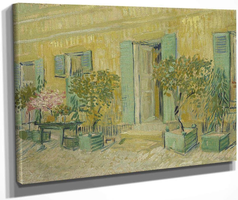Exterior Of A Restaurant In Asnières By Vincent Van Gogh