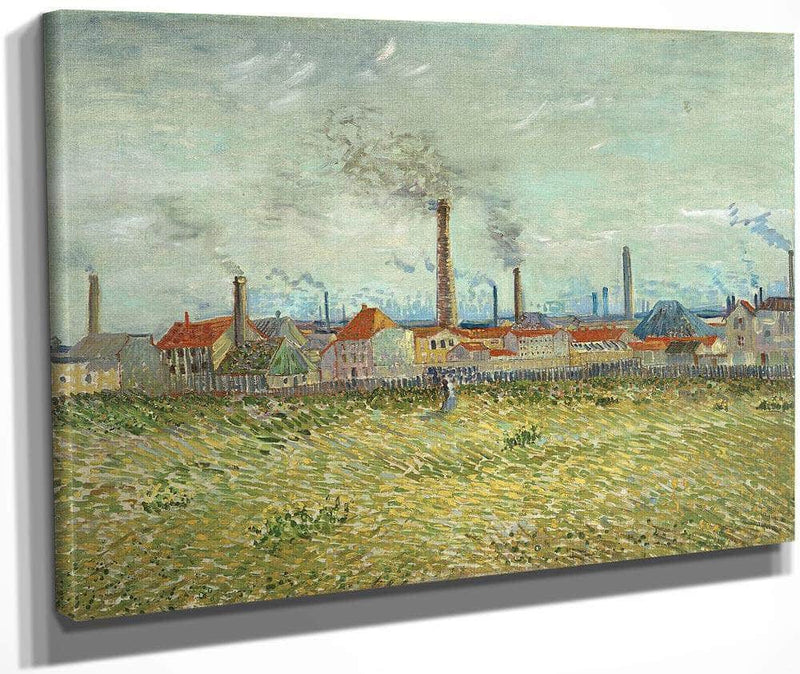 Factories At Clichy By Vincent Van Gogh