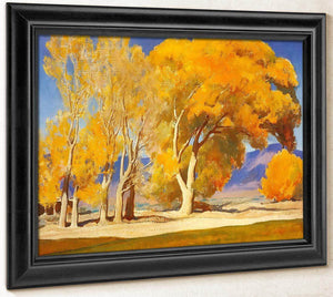 Fall Cottonwoods By Maynard Dixon
