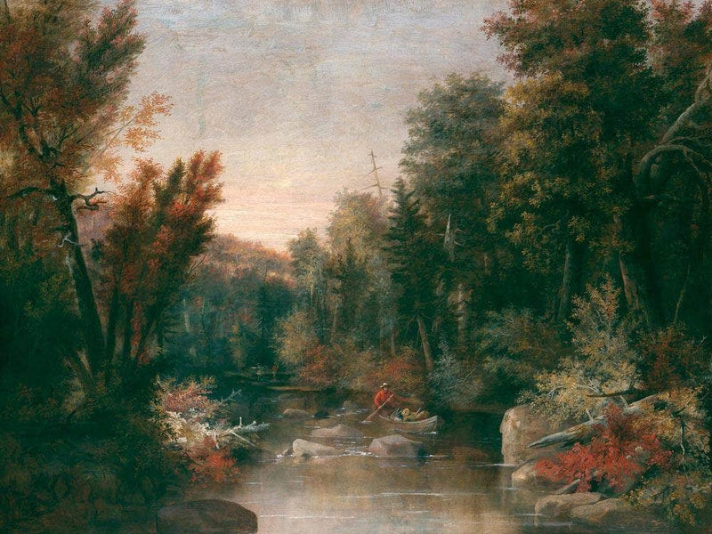 Fall Fisherman By Duncanson Robert