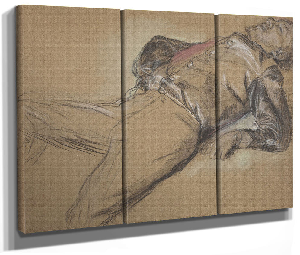 Fallen Jockey (Study For Scene From The Steeplechase The Fallen Jockey) By Edgar Degas