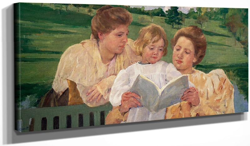 Family Group Reading By Cassatt Mary