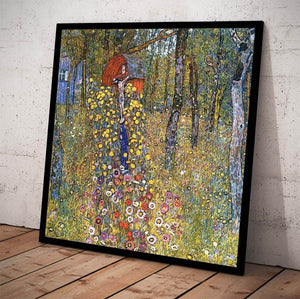 Farm Garden With Crucifix Painting Gustav Klimt Canvas Art