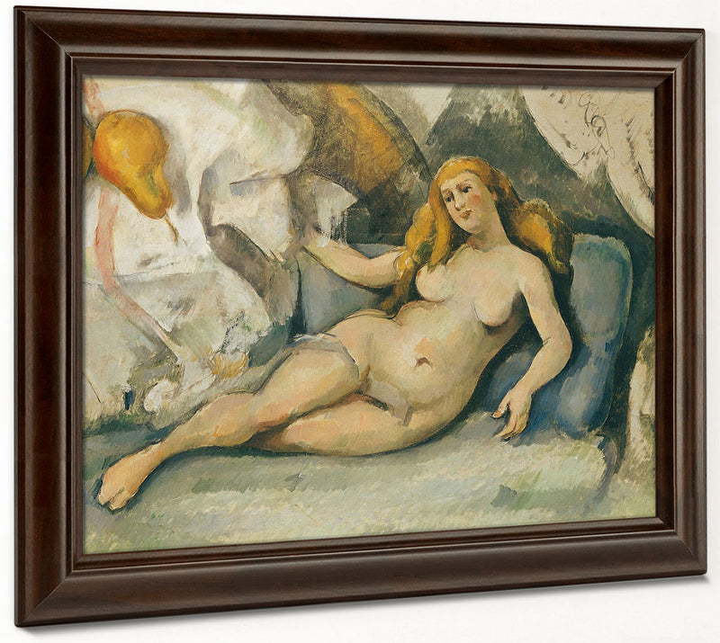 Female Nude On A Sofa By Paul Cezanne