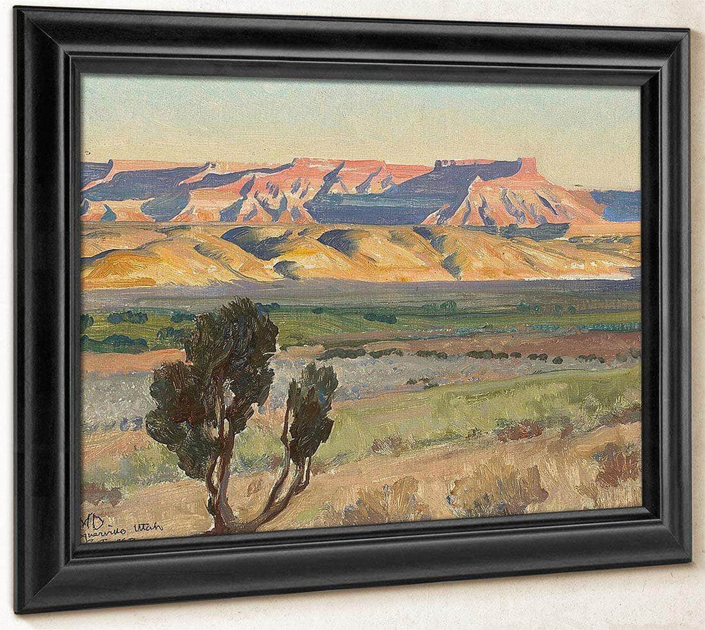 Fields Of Toquerville Utah (No.466) By Maynard Dixon