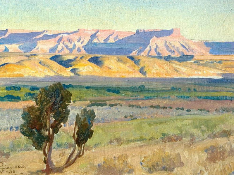 Fields Of Toquerville By Maynard Dixon