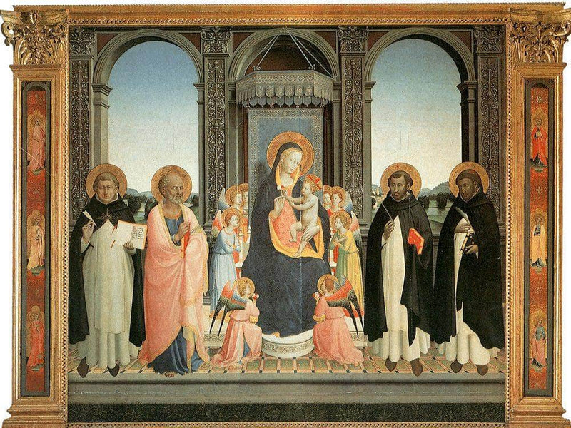 Fiesole Altarpiece 1425 By Fra Angelico