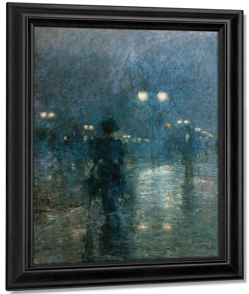 Fifth Avenue Nocturne By Childe Hassam