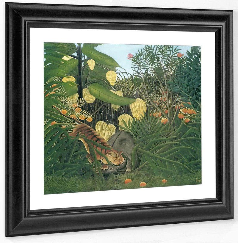 Fight Between A Tiger And A Buffalo 1908 By Henri Rousseau