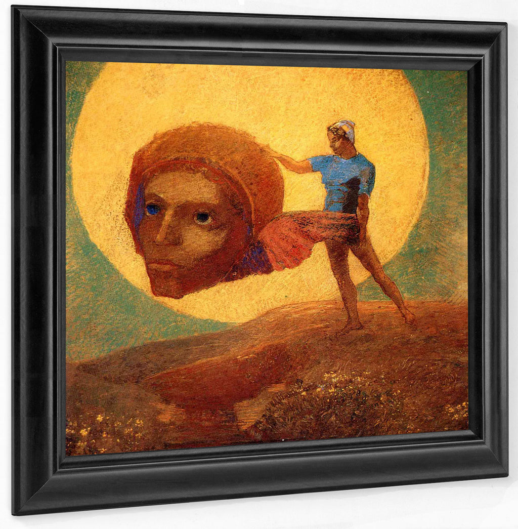 Figure 1876 Symbolism Pastel On Paper Rothschild Art Foundation Md By Odilon Redon