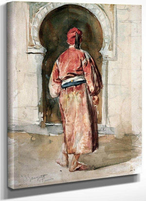 Figure Of A Tunisian Man Seen From Behind By John Singer Sargent