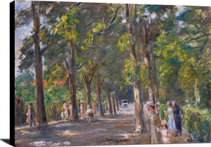 Figures Grosse Seestrasse Wannsee Painting Max Liebermann Canvas Art