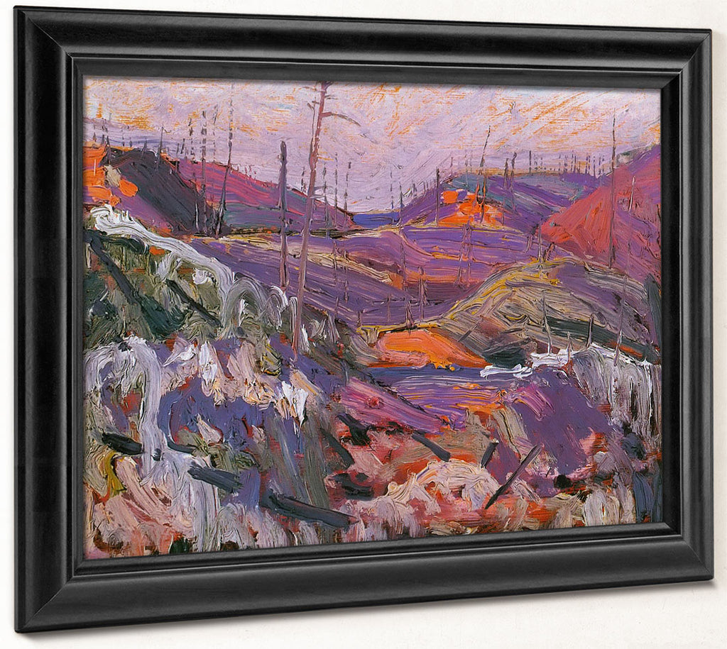 Fire Swept Hills By Tom Thomson