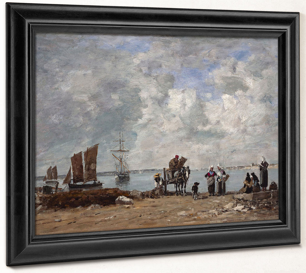 Fishermen's Wives At The Seaside By Eugene Boudin