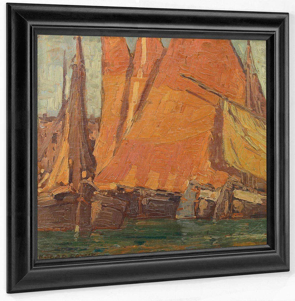 Fishing Boats And Sails By Edgar Payne