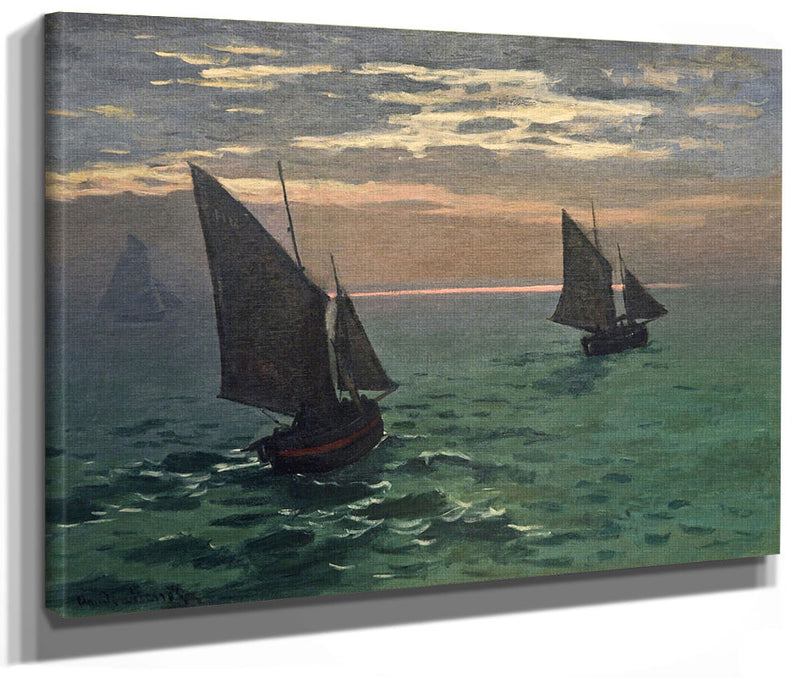 Fishing Boats At Sea By Claude Monet