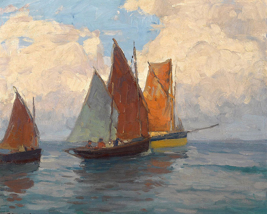 Fishing Boats By Edgar Payne2