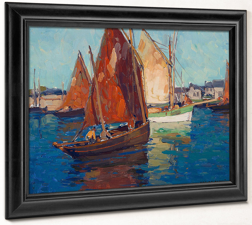 Fishing Boats By Edgar Payne
