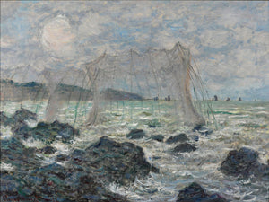 Fishing Nets At Pourville By Claude Monet