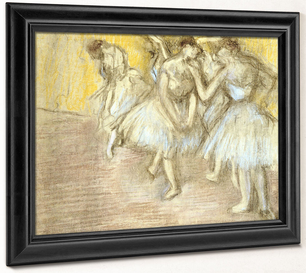 Five Dancers On Stage By Edgar Degas