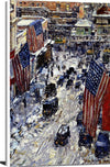 Flags On 57th Street, 1918 Painting Frederick Childe Hassam Canvas Art