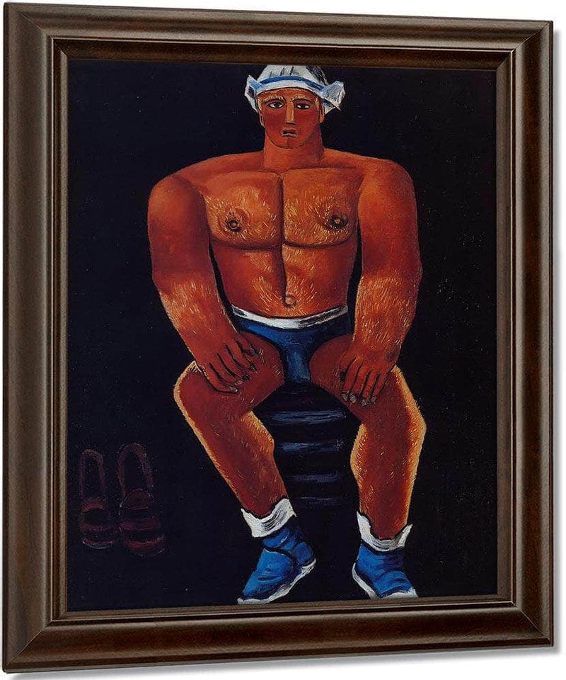 Flaming American Swim Champ By Marsden Hartley