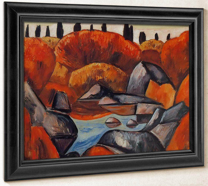 Flaming Pool Dogtown By Marsden Hartley