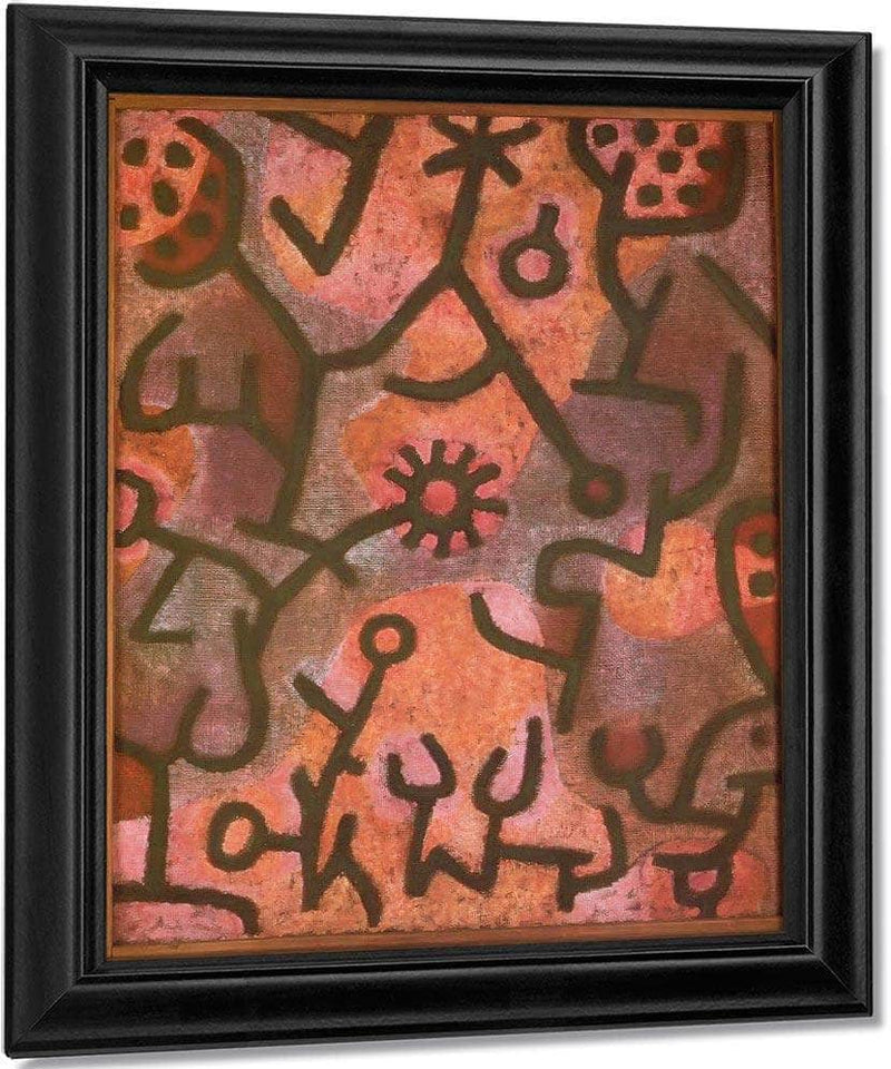 Flora On The Rocks (Flora Am Felsen) 1940 F3 )343) By Paul Klee