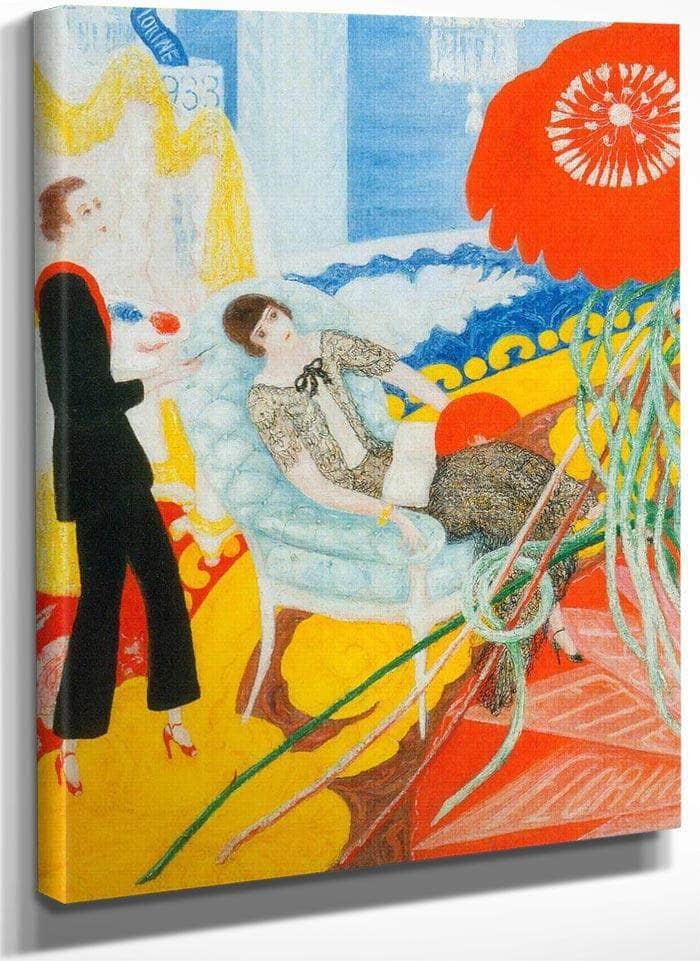 Florine And Ettie Family Portrait By Florine Stettheimer