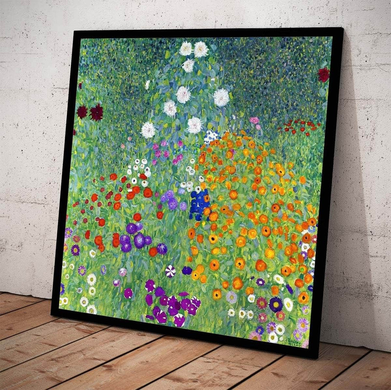 Flower Garden Painting Gustav Klimt Canvas Art