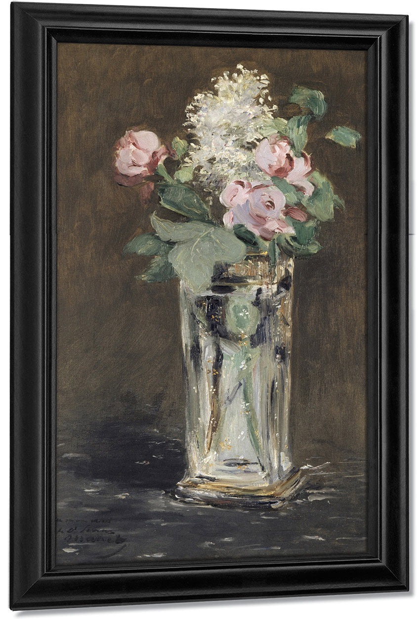 Flowers In A Crystal Vase, 1882 1 By Edouard Manet