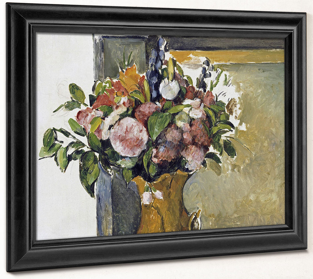 Flowers In A Vase 1 By Paul Cezanne