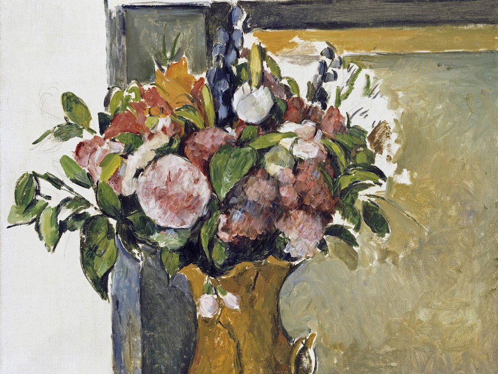 Flowers In A Vase By Paul Cezanne