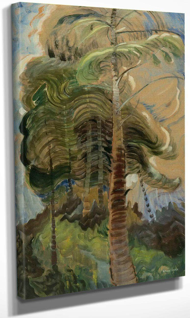 Forest Interior By Bc By Emily Carr