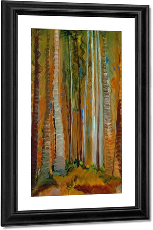 Forest Tree By Trunks By Emily Carr
