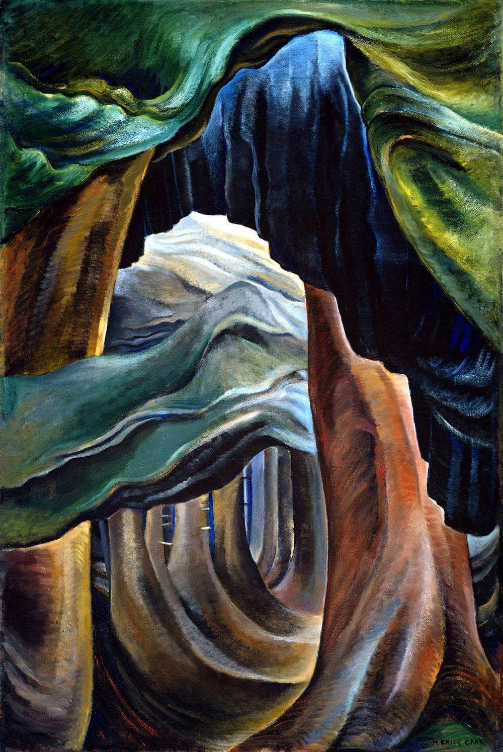 Forest, British Columbia Painting Emily Carr Canvas Art
