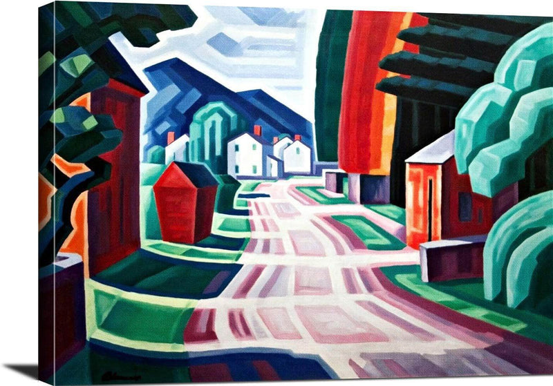 Form & Light Motif West New Jersey Painting Oscar Bluemner Canvas Art